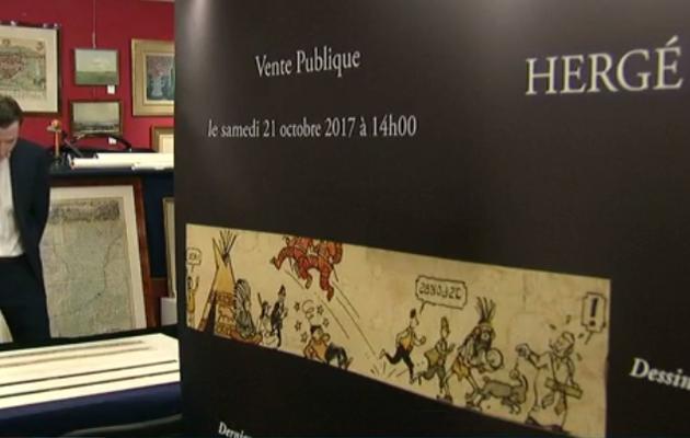 Hergé: vente aux enchères à Liège de ses derniers croquis
