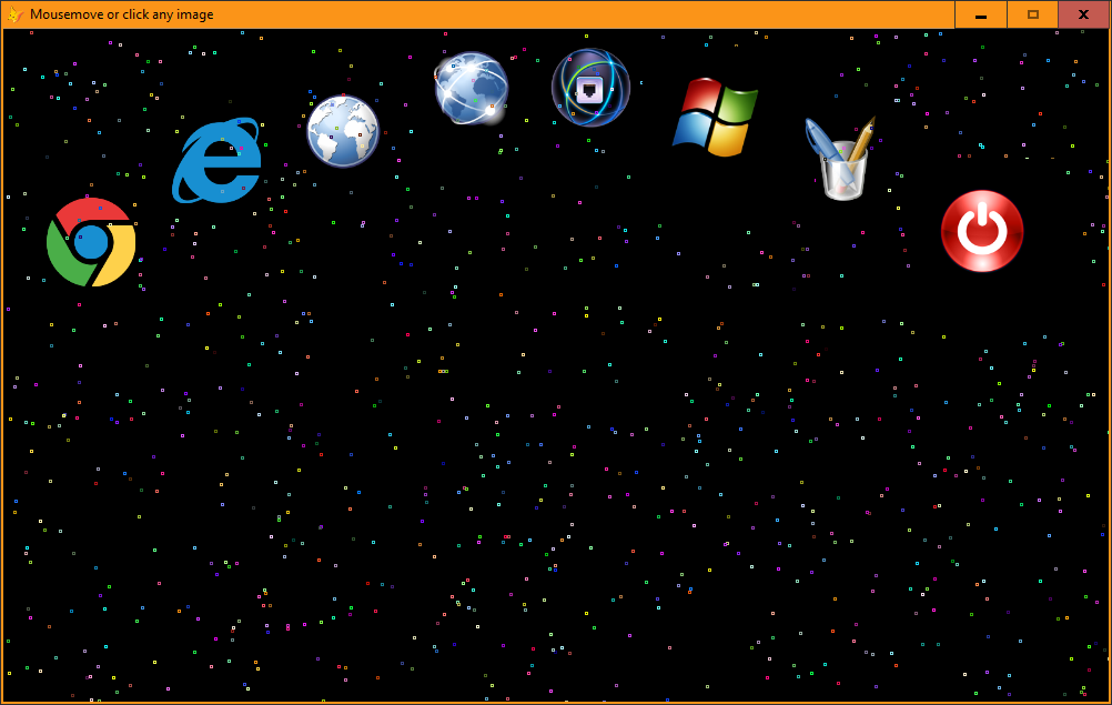 can make form alwaysontop=.t.  to avoid be covered by another windows....can arrange icons png as your taste.