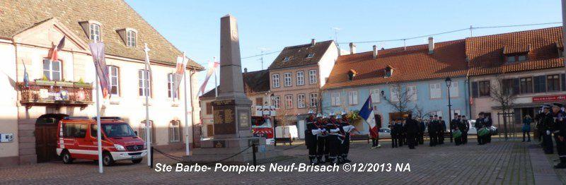 La Sainte Barbe avec les Pompiers de Neuf-Brisach