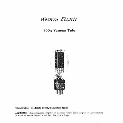 Western Electric 300A Data sheet 1936