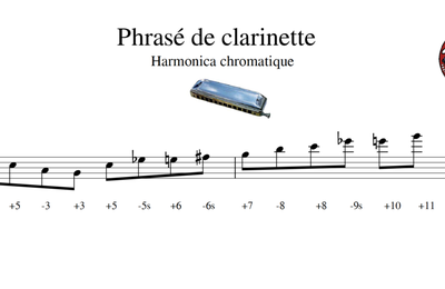 Phrasé de clarinette - Harmonica chromatique