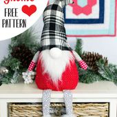 Christmas Gnome - free sewing pattern - SewCanShe | Free Sewing Patterns and Tutorials