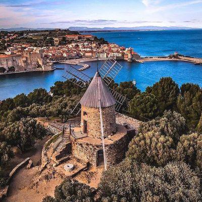 Le moulin de la Cortina à Collioure