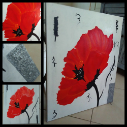 """Tableau """"coquelicot"""""""