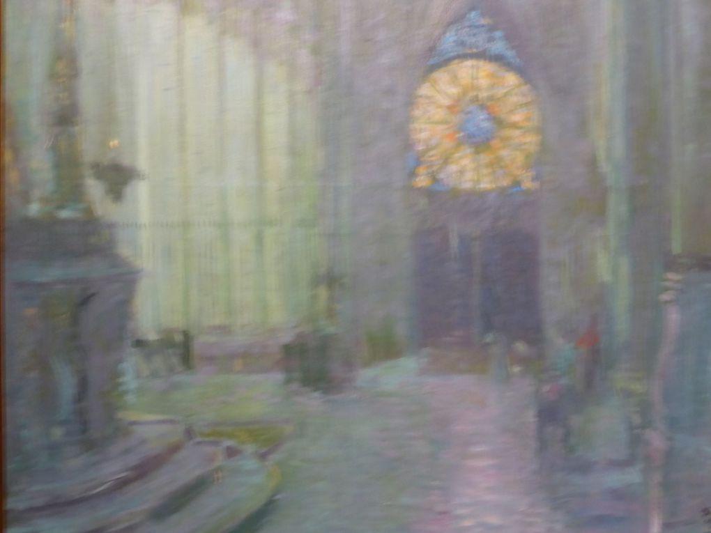 Paul-César Helleu, Intérieur de la cathédrale de Reims, vers 1892, huile sur toile, 201,3 x 131 cm.. Musée des Beaux-Arts, Rouen © Photographie Gilles Kraemer, visite presse, musée des Beaux-Arts, Rouen, 2014