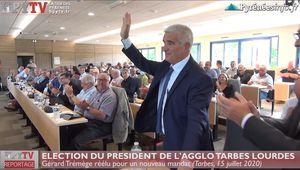 Gérard Trémège réélu à la tête de l'agglo Tarbes Lourdes Pyrénées (15 juil 20) | La Télé de Tarbes
