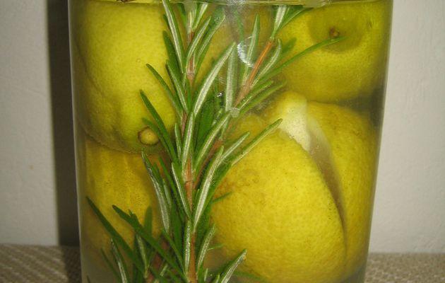 Citron confit maison au romarin