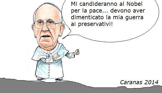 Nobel per la pace per Papa Francesco