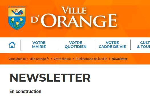 Newsletters -Ville d'Orange à revoir.