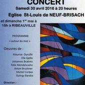 """Concert de L'ensemble vocal """"ENVOL"""" de Mulhouse à Neuf-Brisach le 30 avril - anciens9genie.overblog.com"""