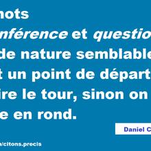 """Mon aphorisme du jour : interrogation sémantique sur les mots """"circonférence"""" et """"question"""""""