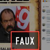 """Infox sur les """" 6 853 euros de salaire """" de Philippe Martinez"""