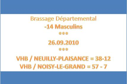 -14 Masculins - Brassage Départemental (26/09/10)