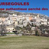 COURSEGOULES Village authentique blotti sur son promontoire dans les Alpes Maritimes