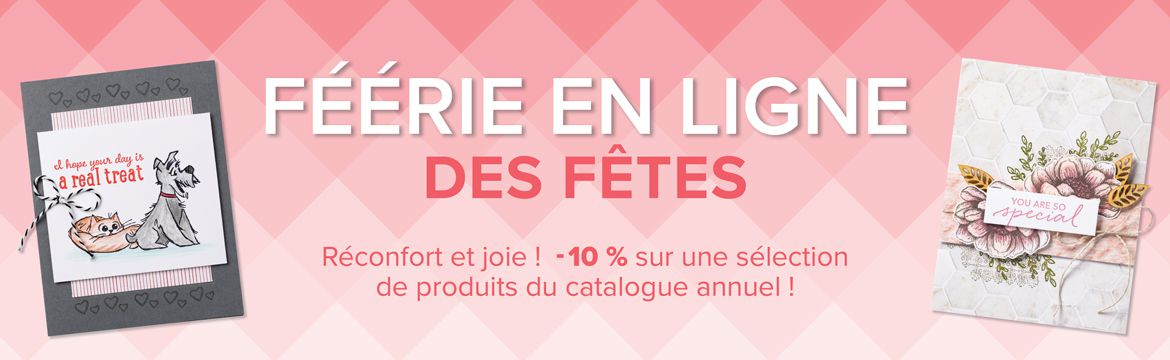 féerie en ligne stampin up Stampin'Up remise 10% sonia france cout heure papier normandie promotion
