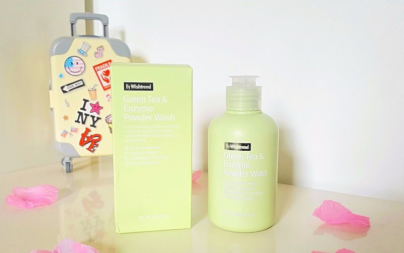 News KBeauty - Le nettoyant étonnant By Wishtrend - Green Tea & Enzyme Powder Wash
