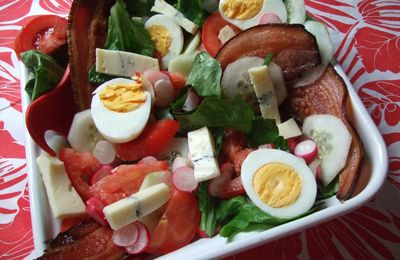 Salade composée au Morbier
