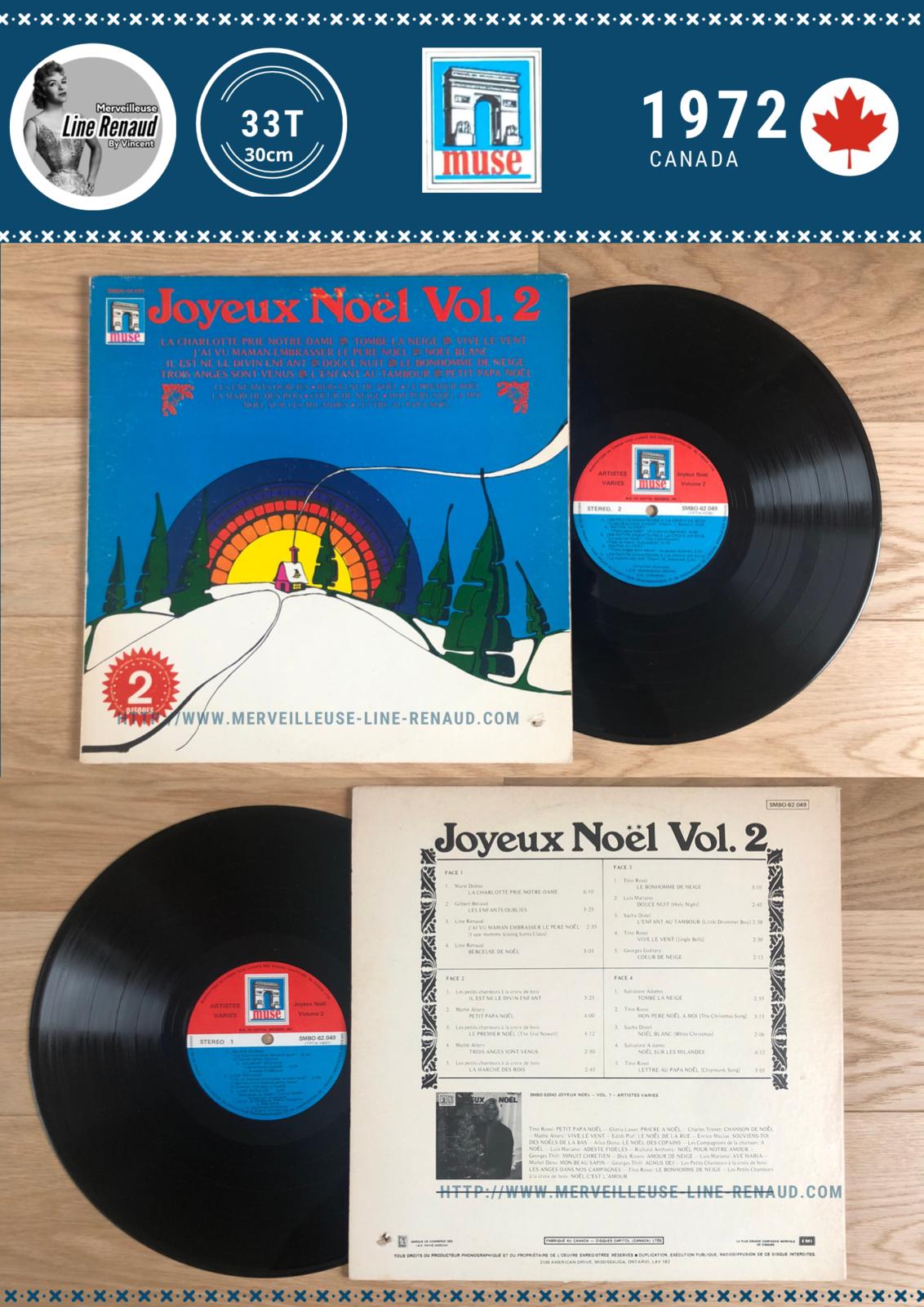 33 TOURS: 1972 Muse/EMI - 2 x 33 Tours - SMBO 62049 - Joyeux Noël Vol. 2 (Canada)