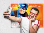 """""""Captain Quadra"""" : une affiche personnalisée photobooth et livre d'or"""