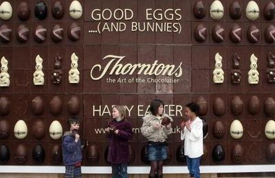 Thorntons' Wall of Chocolate
