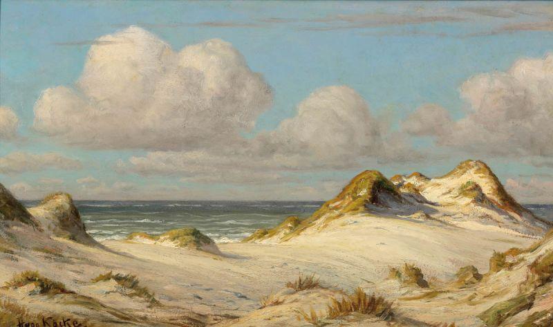 Hugo Köcke - Dünen am Nordseestrand auf Sylt
