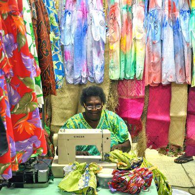 Mother at the Vanatu market