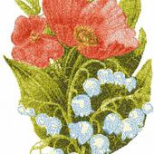 Poppy photo stitch free embroidery design 31