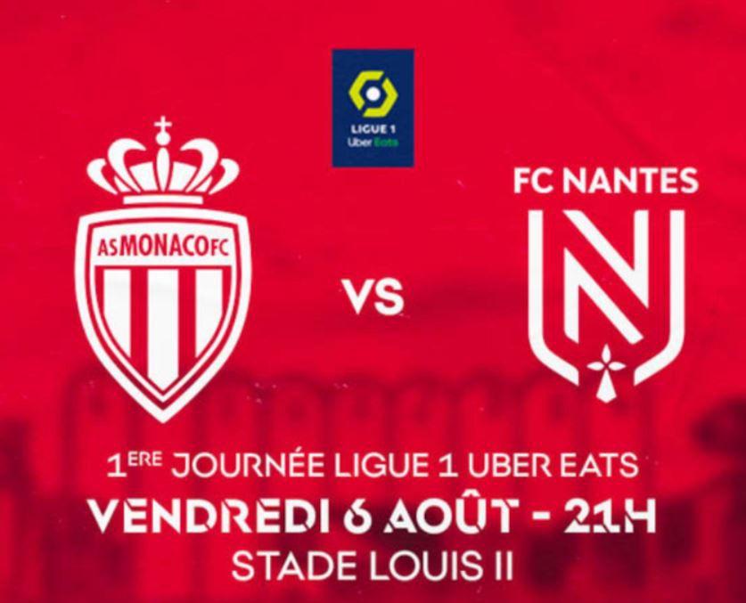 Monaco / Nantes : Sur quelle chaîne suivre la rencontre vendredi ?