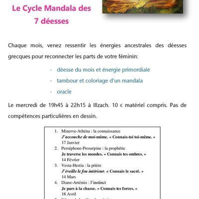 cycle mandala des 7 déesses
