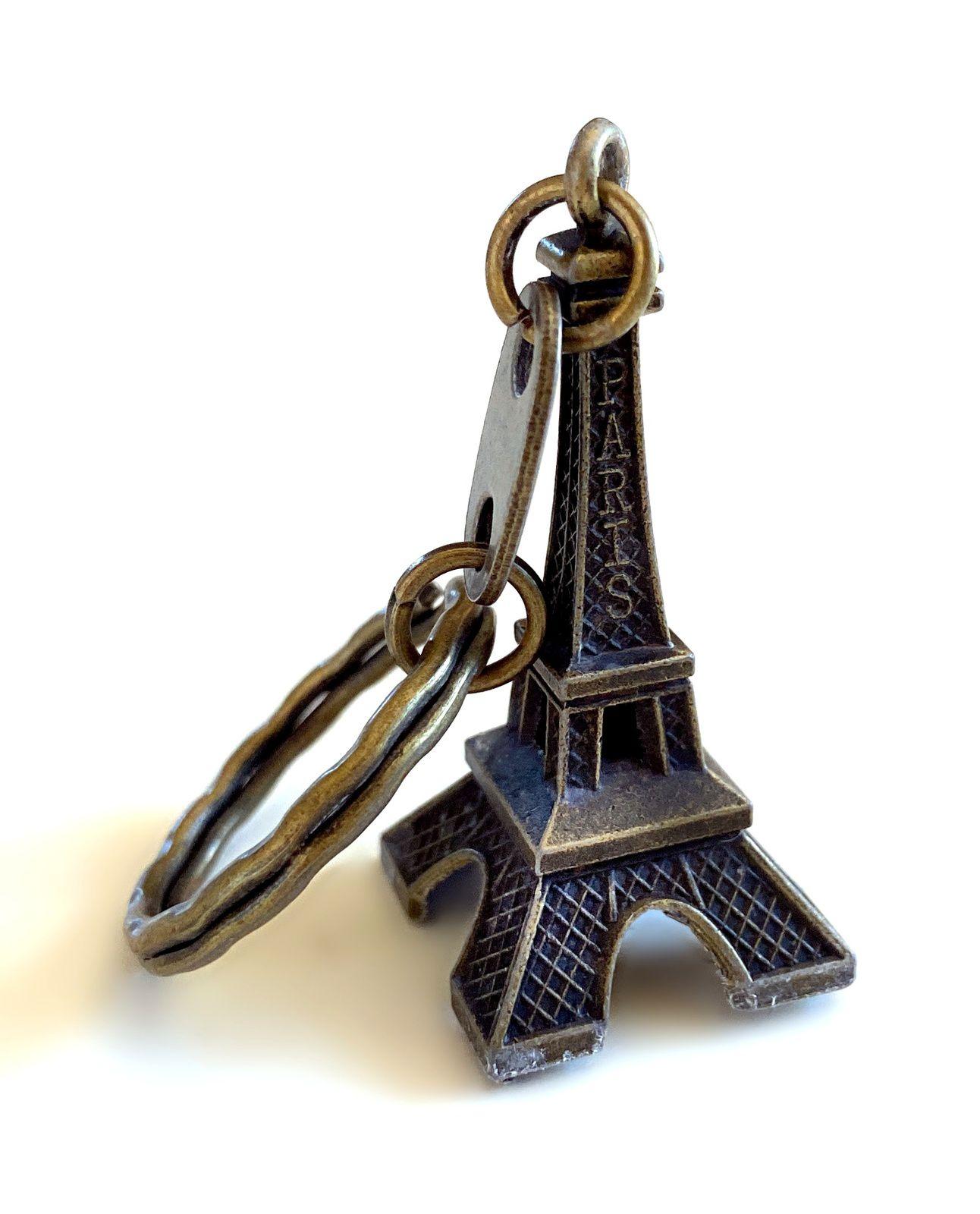 Porte clés Tour Eiffel bronze métal Paris