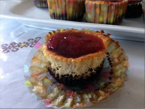 Mini cheesecakes au citron et fraise