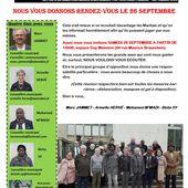 VIVRE MIEUX A MANTES-LA-JOLIE. Nous vous donnons rendez-vous le 26 septembre - Le blog de Marc Jammet, conseiller municipal PCF de Mantes la Jolie