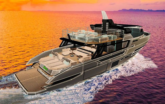 Arcadia Sherpa XL – Work continues on the yacht where everything is more