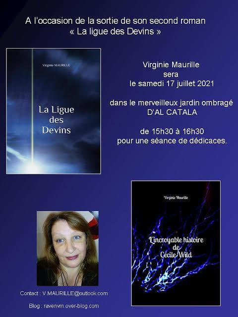 """Sortie du second roman """"La ligue des Devins"""" Virginie Maurille..."""
