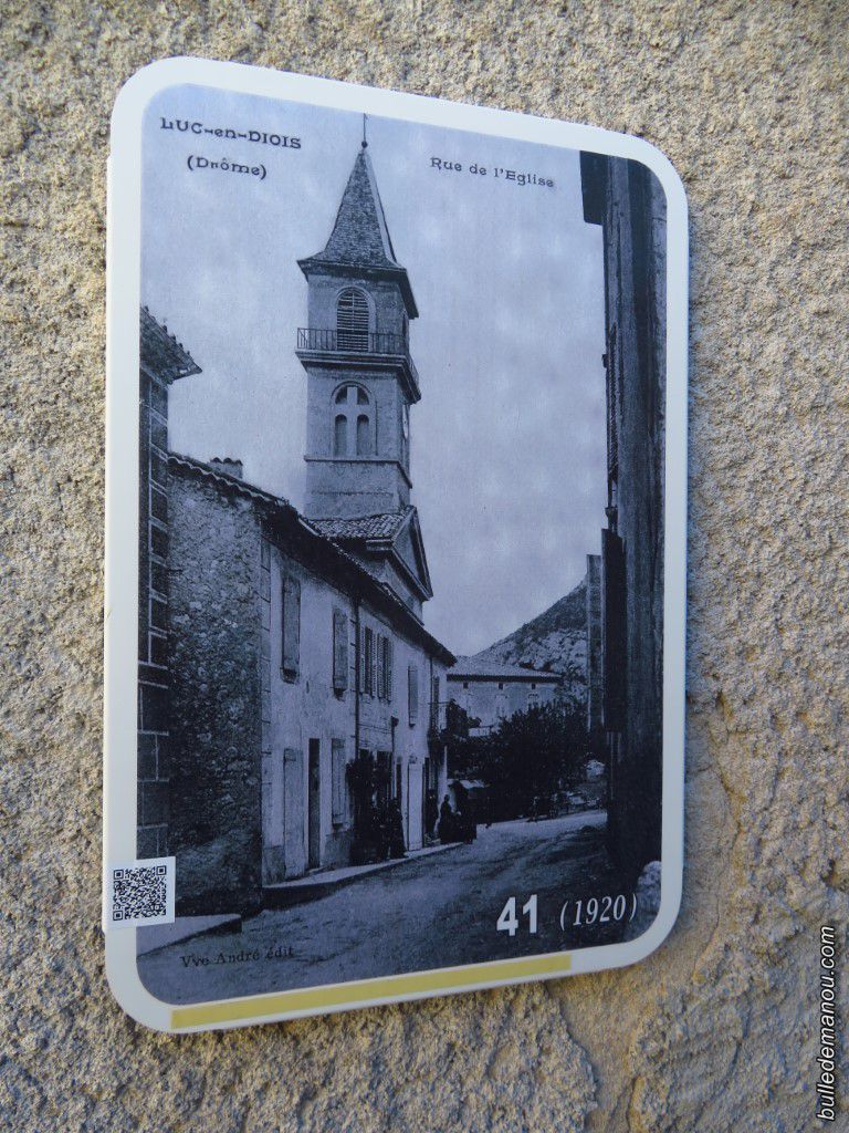 Rue de l'Eglise en 1920 et aujourd'hui