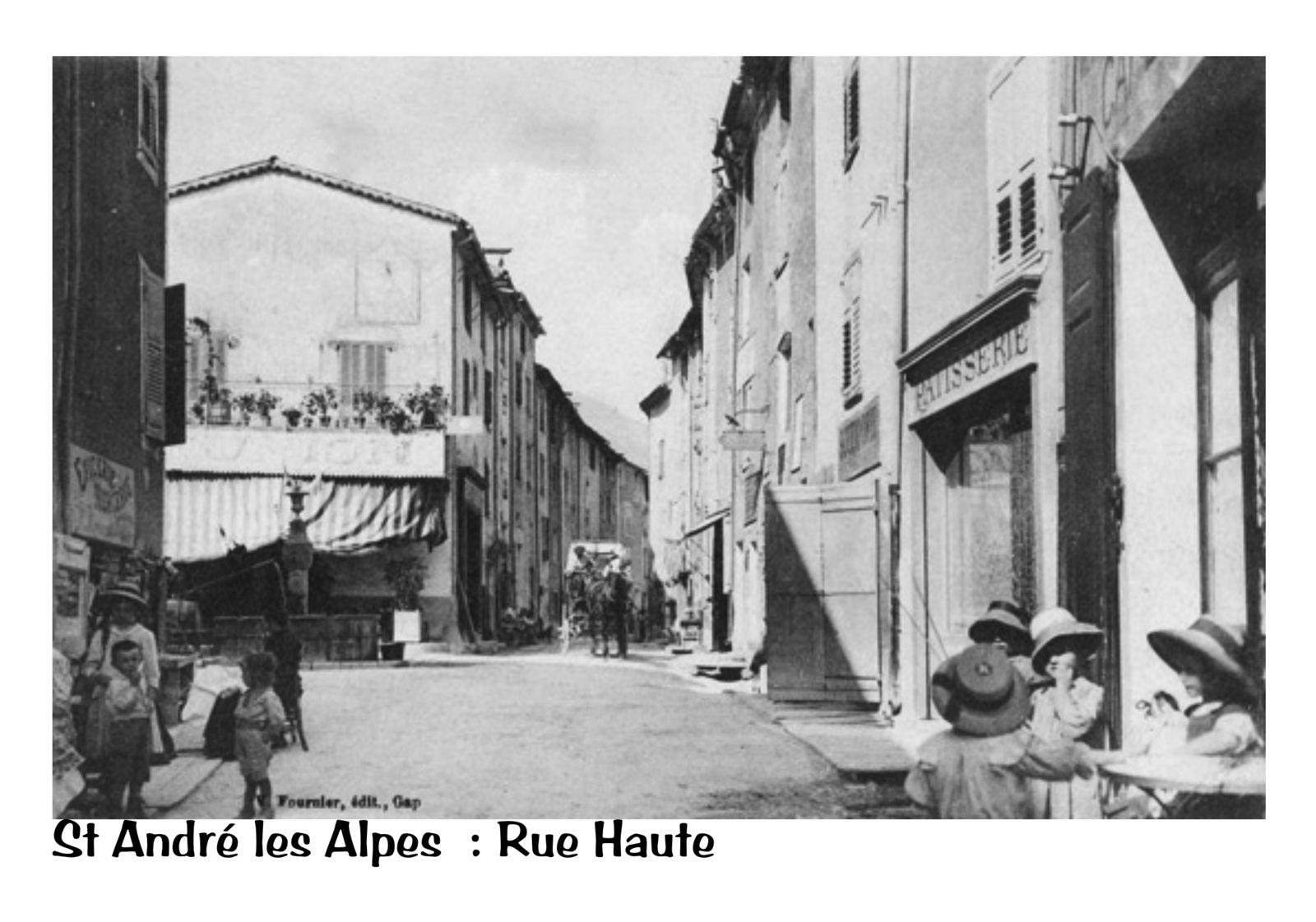 Des Images de Saint André les Alpes à travers les cartes postales restaurées