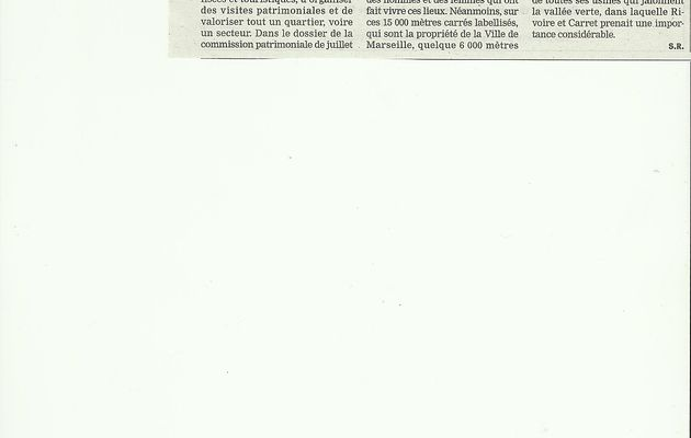 Rivoire & Carret: Article de la Marseillaise le 19 Octobre 2012