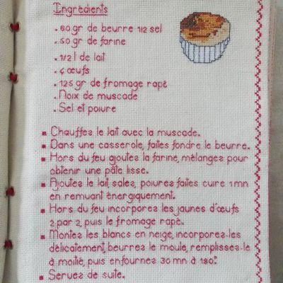 Livre Recettes Brodées de Mamigoz: Le Soufflé au fromage