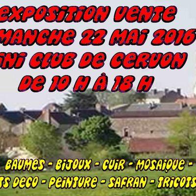 EXPOSITION  DANS MA COMMUNE DE CERVON  58