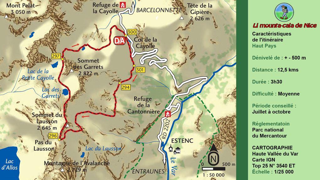 Col de la Cayolle - Circuit des Lacs