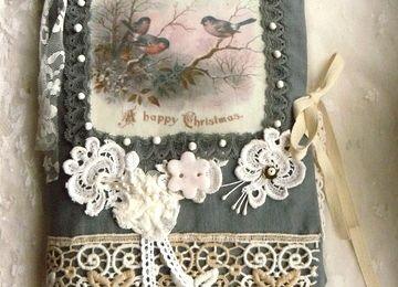 Carnet textile pour l'hiver .