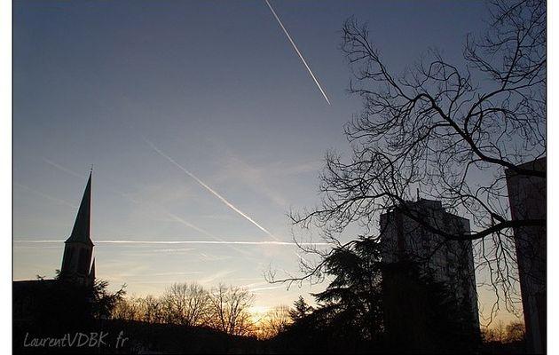 Lever de soleil sur Sotteville