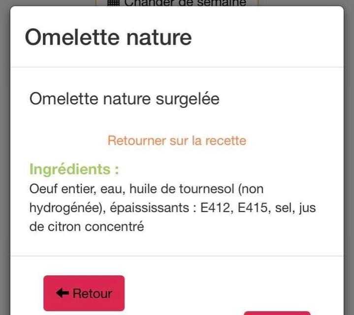 Le monde selon le Sirescoco : l'omelette nature (mais surgelée)  aux épaississants E...