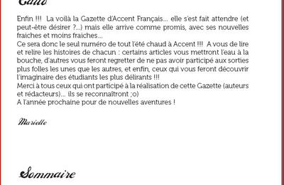 La Gazette d' Accent Francais