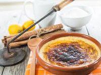 """Recette """"Mini crème catalane"""" - pour 4 personnes - prépa 20 mn - cuisson 20 mn"""