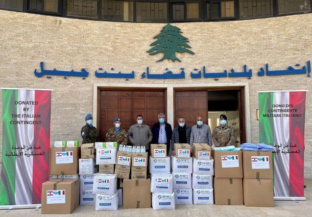 """Libano:militari italiani in prima linea con gli aiuti alla popolazione nella campagna """"Together against Covid"""""""