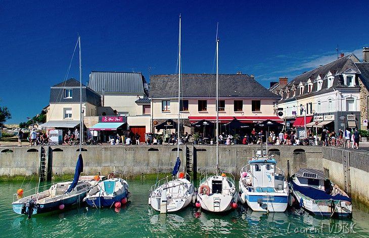 Bateaux amarrés dans le port de Barneville-Carteret - Cotentin, Normandie
