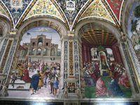 TOSCANE - SIENNE - ITALIE - Notre-Dame-de-l'Assomption : la bibliothèque Libreria Piccolomini