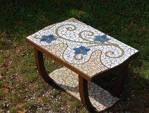 "Table mosaïque ""Lézard"""