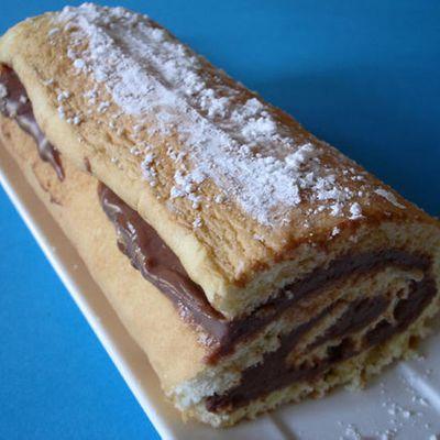 Gâteau roulé à la crème de Nutella et Amaretto